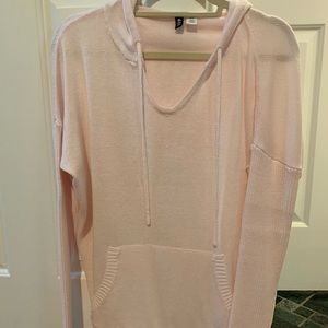 Soft and comfy over sized pink hooded sweatshirt